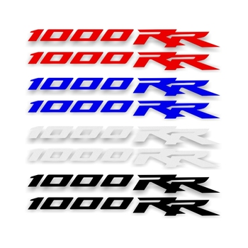 1pair Motorcycle Bicycle Reflective Waterproof Sticker Logo MOTO Helmet Luggage Sticker for Honda Cbr 1000 Rr CBR 1000RR FASP punisher logo helmet motorcycle decal sticker m1 3x 2 1 4 reflective white