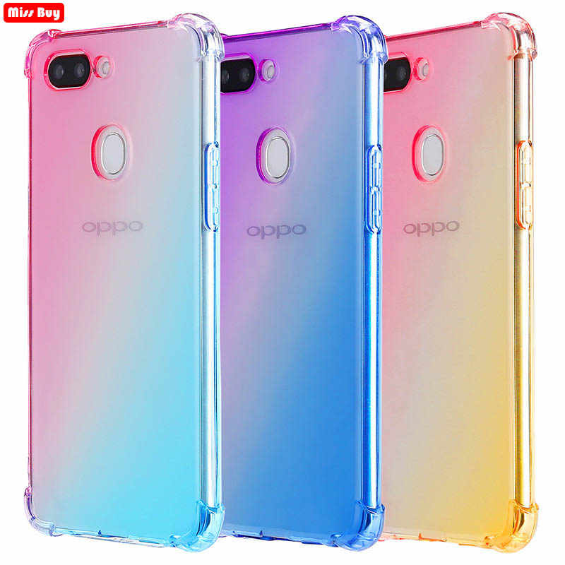 Ultra Slim Double Color Gradient Case for OPPO F9 Pro A5S A3S A5 A7 A9 F11 F5 F7 A83 A59 F1S A57 A39 A73 A1K K1 R15X K3 Cover