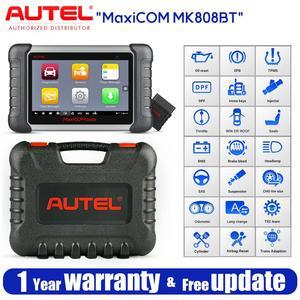 Image 1 - Autel MaxiCOM MK808BT OBD2 tarayıcı teşhis aracı, MaxiVCI destekler tam sistem tanı yükseltilmiş versiyonu MK808