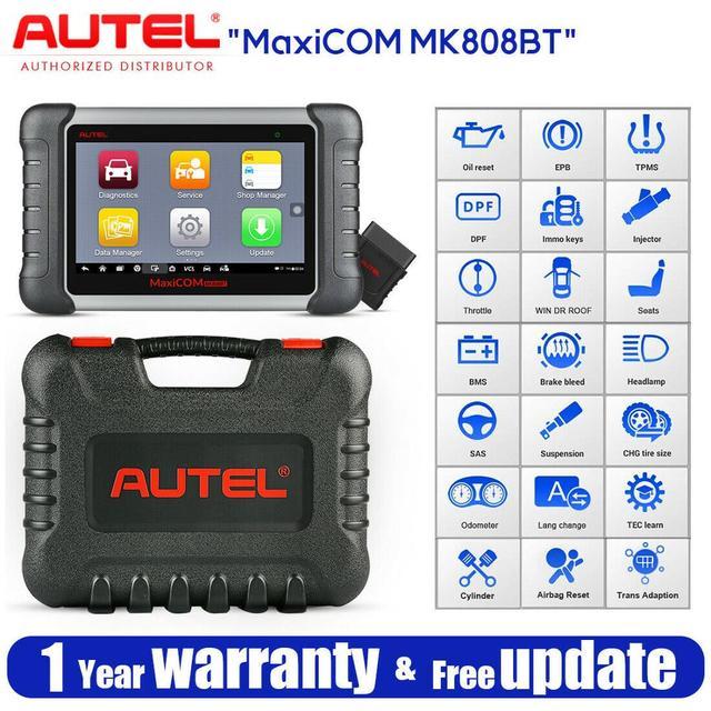 Autel MaxiCOM MK808BT OBD2 tarayıcı teşhis aracı, MaxiVCI destekler tam sistem tanı yükseltilmiş versiyonu MK808