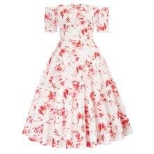 Повседневные летние платья Элегантное женское винтажное платье с открытыми плечами сексуальное платье с коротким рукавом матовой формой В...