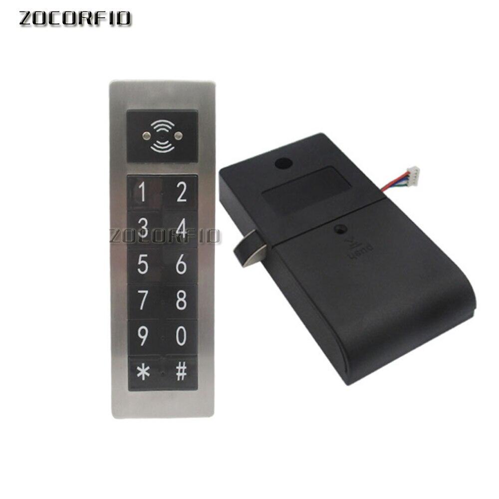 Metal 125Khz RFID&Password Keypad Number Cabinet Code Locks Intelligent Cabinet Lock