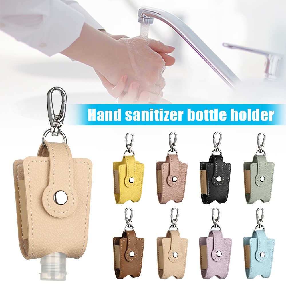 חם חדש יד Sanitizer מפתח שרשרת מחזיק Refillable נסיעות Flip כובע בקבוק לשימוש חוזר מכולות אביזרי עם Keychain Carrier