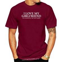 Punk Tops Homme Fitness T-Shirts I Love My Boyfriend Girlfiend T Shirt Valentines Gift Couple Matching Zoella Tee Shirt