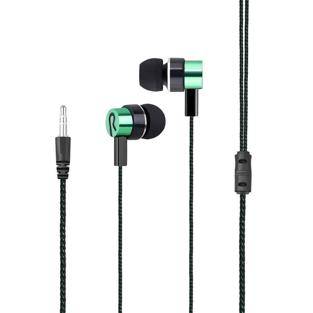 Baru Dikepang Kabel Earphone Subwoofer In-Ear Earphone Kebisingan Isolating Headset untuk Ponsel MP3 MP4 PC Game untuk Samsung S6