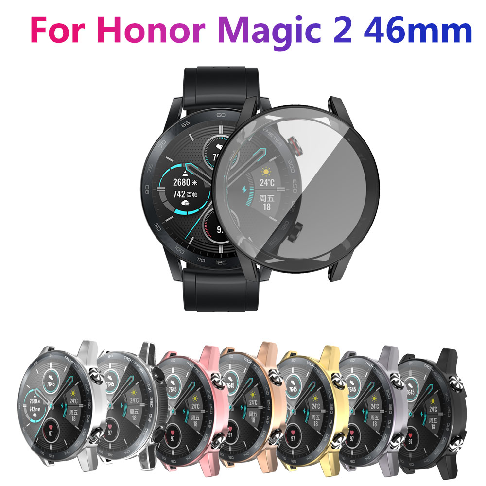 Protective Case For huawei honor magic 2 46mm Smart Watches Cover TPU Full Shell 46mm Protector Smart Accessories Screen Cover