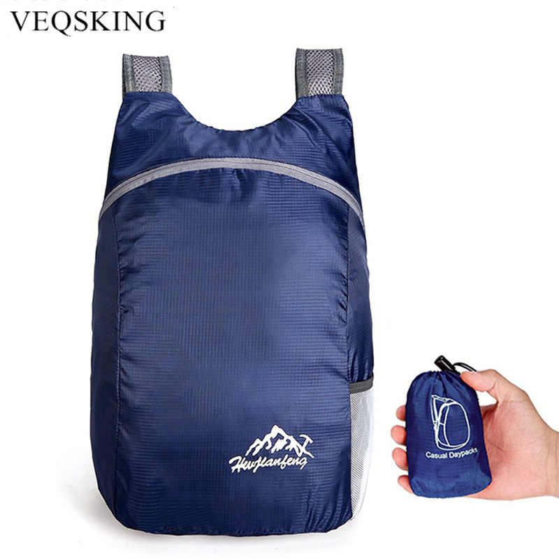 20L خفيفة الوزن حقيبة ظهر قابلة للحمل طوي خفيفة في الهواء الطلق للطي مفيد حقيبة عملية للسفر حقيبة نانو daypack للرجال والنساء