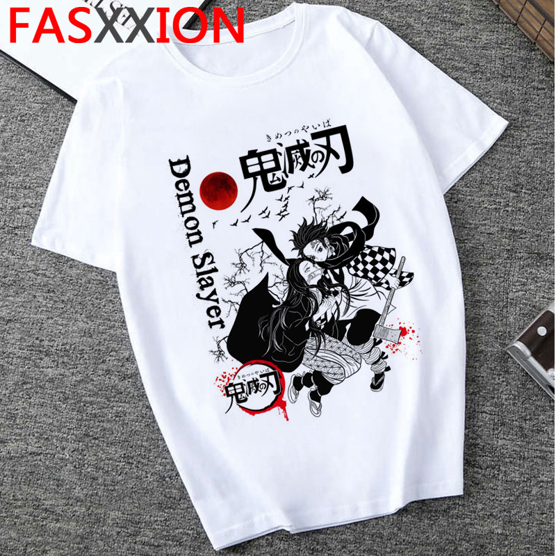 Fashion Demon Slayer T Shirt Men Cartoon Graphic Top Tees  Kimetsu No Yaiba  Streetwear  Harajuku  Japanese Anime T-shirt Male