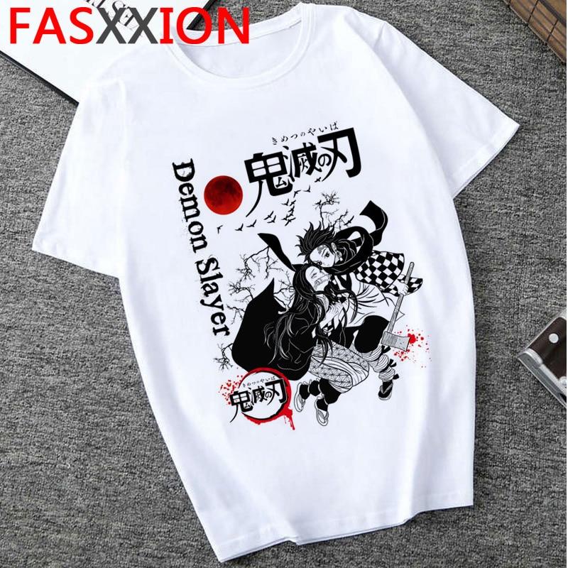 Fashion Demon Slayer T Shirt Men Cartoon Graphic Top Tees  Kimetsu No Yaiba  Streetwear  Harajuku  Japanese Anime T-shirt Male