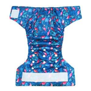 Image 3 - (10 Stks/partij) Gelukkig Fluit Klittenband Os Pocket Doek Luier, Met Twee Zakken, waterdicht En Ademend, Voor 5 15Kg Baby