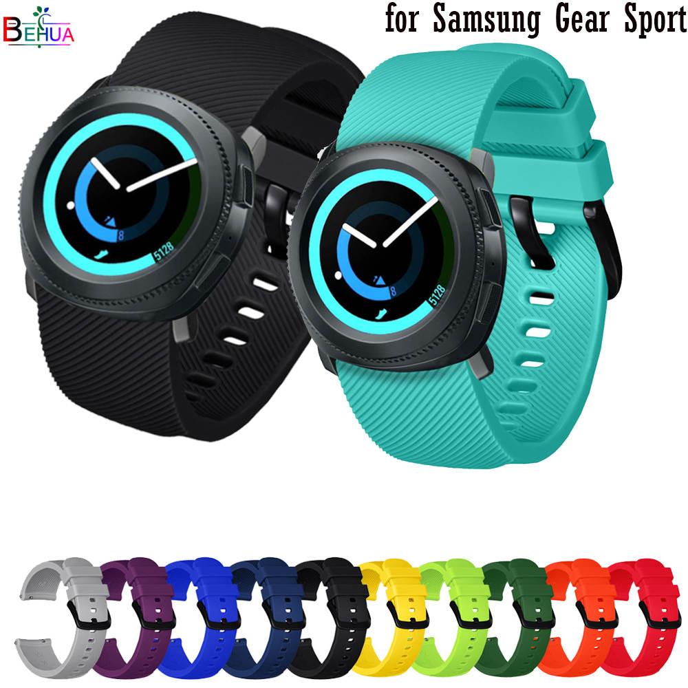 Ремешок BEHUA силиконовый для Samsung Gear Sport, сменный браслет для Amazfit BIP youth / GTS / GTR 42 мм, 20 мм