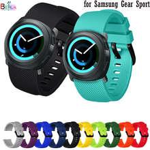 Behua 20mm pulseira de silicone para samsung engrenagem esporte cinta substituir pulseira para amazfit bip juventude/gts/gtr 42mm pulseira