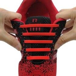 16 шт./компл. для бега шнурки без завязок; модные унисекс в спортивном стиле; шнурки из эластичного силикона; подходят ко всем кроссовкам; реме...