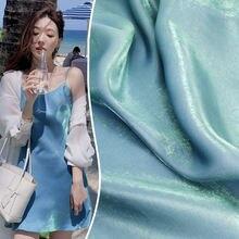 Модные ткани для одежды стеклянный шелк атлас хрусталь хлопок