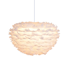 pendant feather lamp romantic dreamlike feather droplight bedroom living room parlor hanging lamp e27 warm light Nordic Modern White Feather Hanging Lamp E27 Goose Feather Pendant Lamp Living Room Pendent Light Bedroom Bedside Droplight