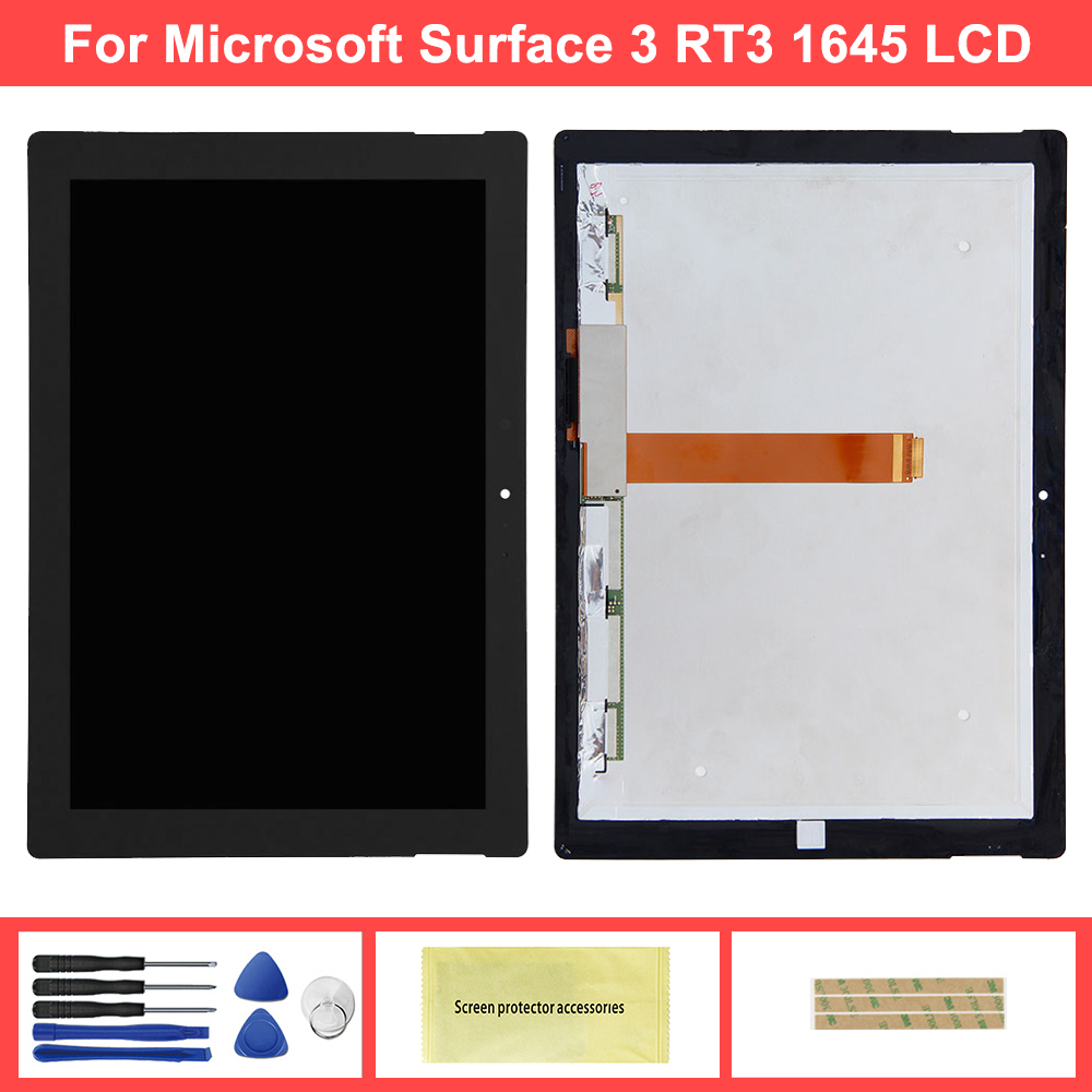10.8'' LCD For Microsoft Surface 3 1645 RT3 1645 LCD Display Touch Screen Digitizer Assembly Glass Panel Tablet Display