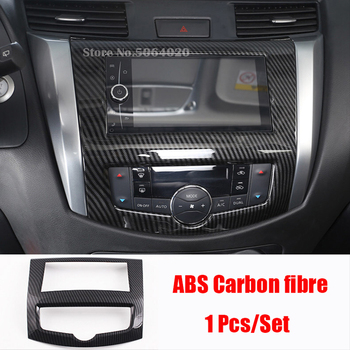 ABS Carbon fibre Car navigation panel Cover Trim Car Styling Sticker For Nissan Navara NP300 2017 2018 2019 accessories 1pcs qcbxyyxh abs car styling for nissan terra navara np300 2018 2019 car navigation frame sequins internal decoration cover