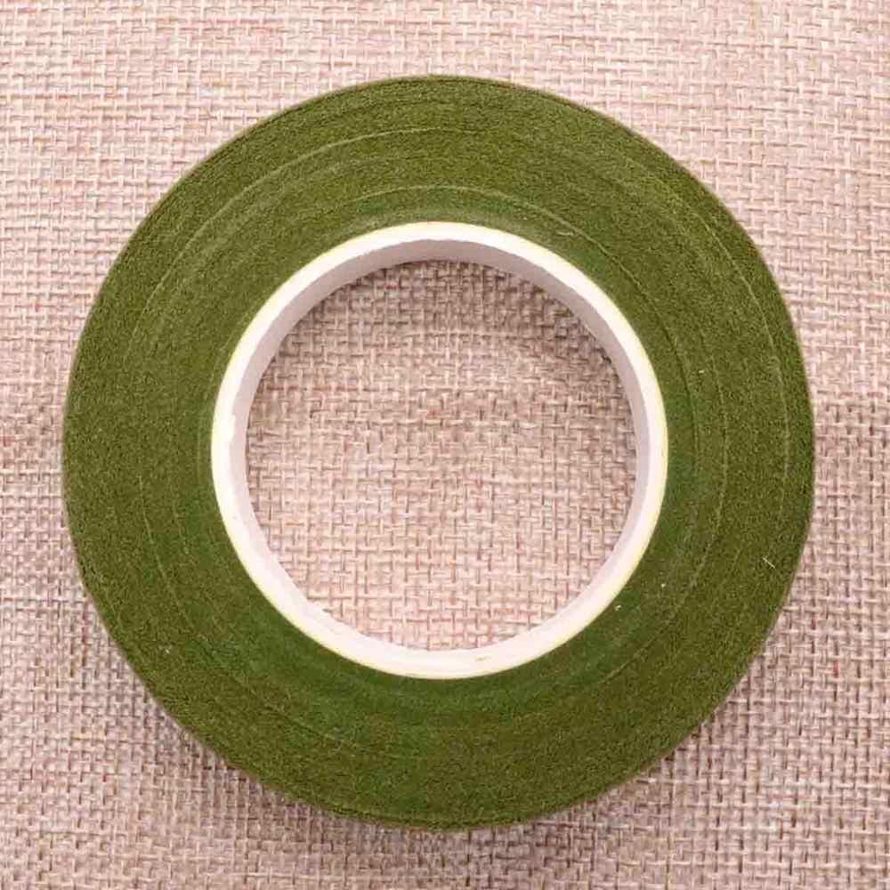 Bandes vertes florales 12mm * 45 m/rouleau ruban Corsages boutonnière fleur artificielle étamine enveloppement fleuriste bandes vertes ruban extensible