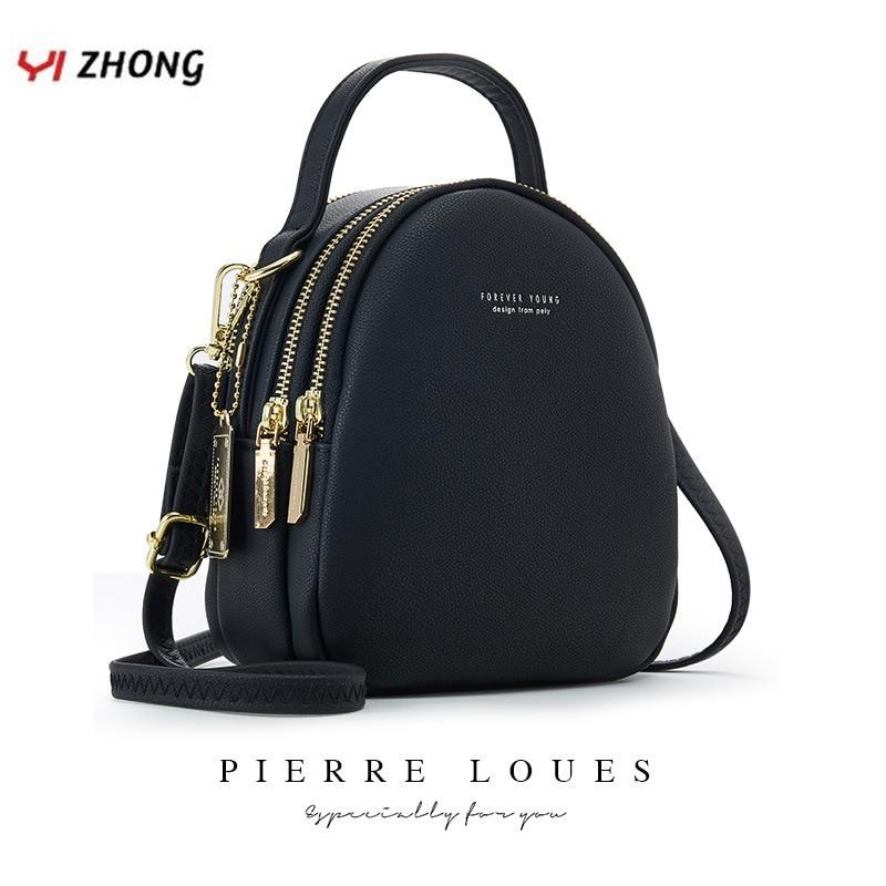 YIZHONG Leather Mini Backpack Purse For Women Ladies Bookbag Multi-Function Luxury Shoulder Bag Messgner Bags Mochila Feminina
