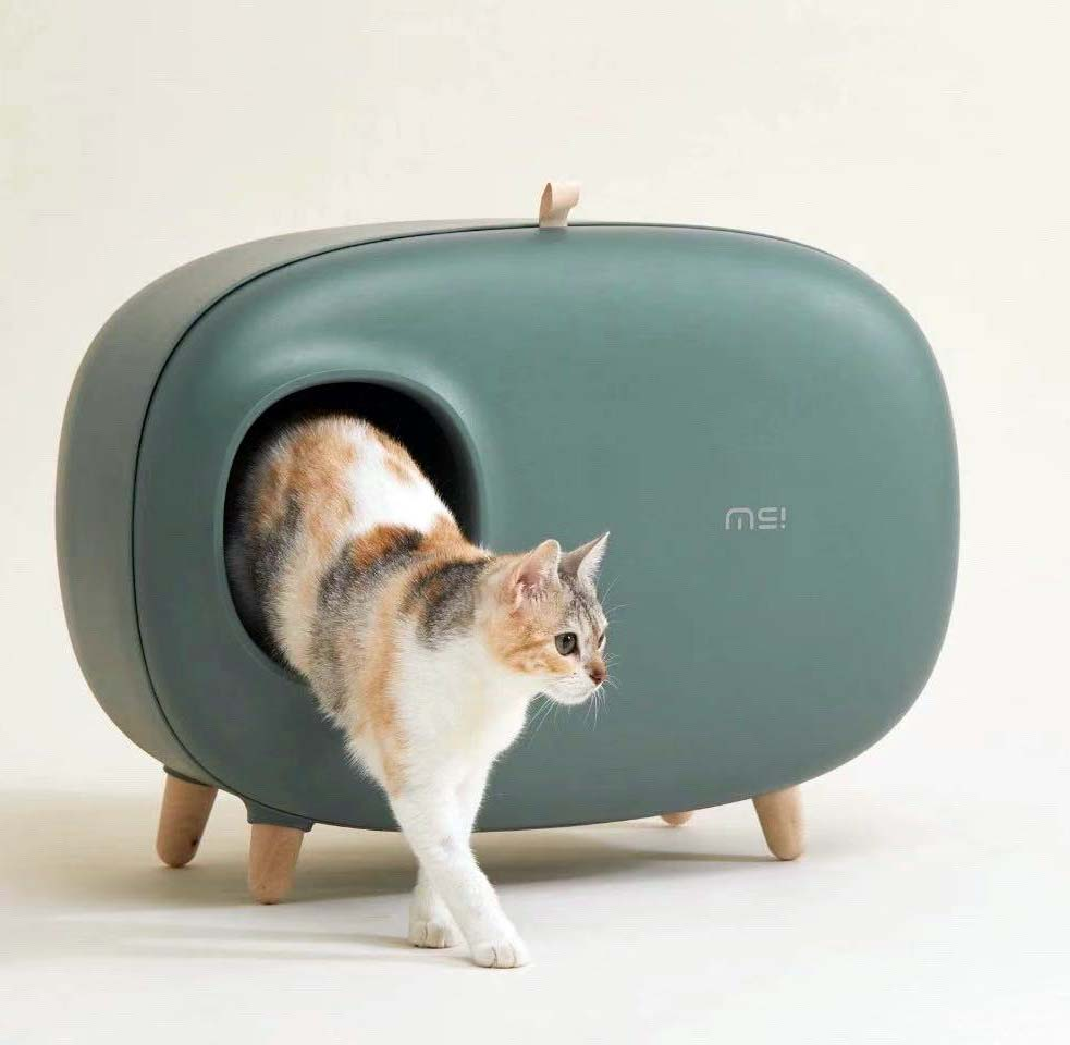 MS Cat Litter Box for Easier Handling of Cat Litter, Enclosed Design, Easy to Clean, Prevent Sand Leakage, Free Shipping(China)