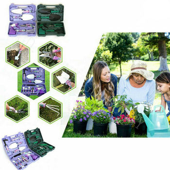 10PCS Garten Werkzeug Set Pfropfen Beschneiden Schaufel Rake Spray Flasche NEUE Lila Farbe Kinder Garten Werkzeuge auf