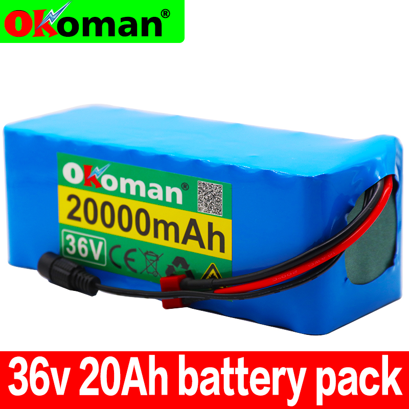 36V 10S4P 20Ah 500W high power battery 42V 20000mAh 18650 lithium battery pack Ebike electric bicycle bicycle with BMS