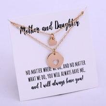 Mãe e filha colares coração amor casal mãe aniversário irmã presente melhores amigos jóias-um conjunto