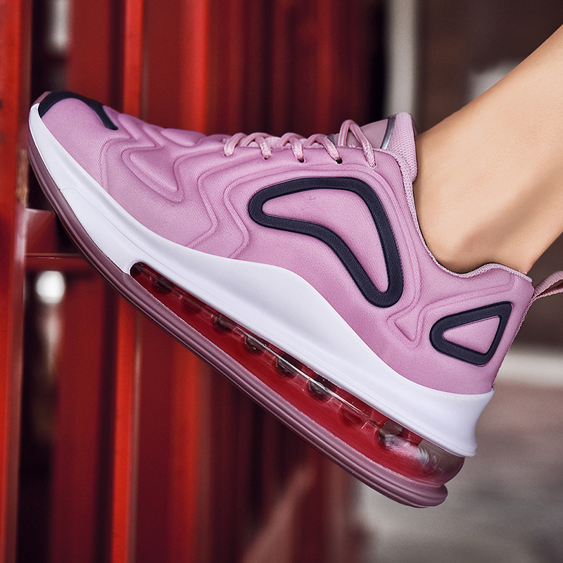 Femme vulcaniser chaussures mode coussin dair néon baskets respirer chaussures de course décontractées amoureux chaussures grande taille femmes chaussures 44 45 46