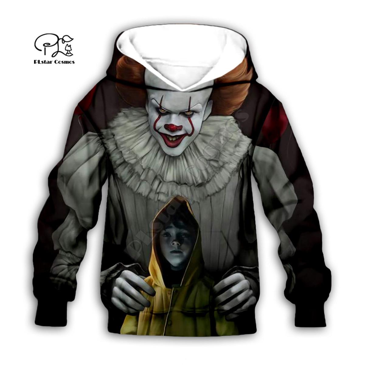 Купить детский комплект с худи на хэллоуин it 3d принтом семейный костюм