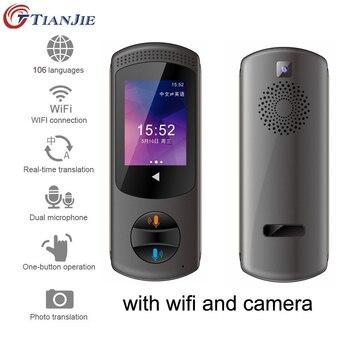 TianJie Camera offline Interpreter multi-language portable smart wifi voice translator two-way tourism 106 multi language device