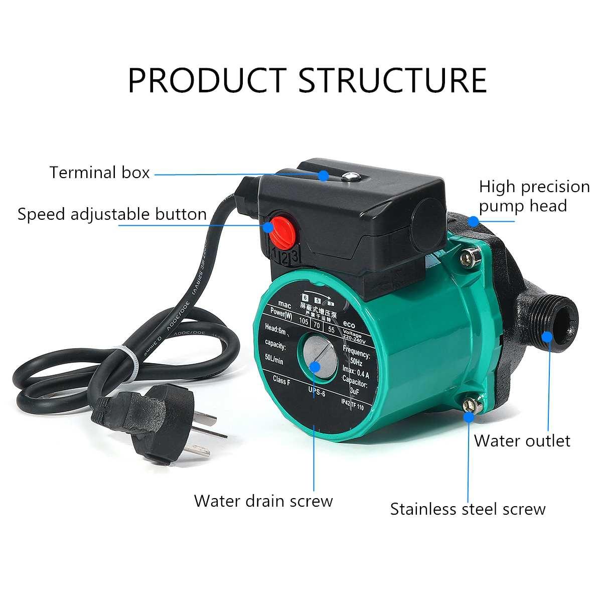 100w 3-speed Booster-Pump Circulation Circulating Pump Hot Water Circulation Pump For Heater System Booster-Pump Circulation