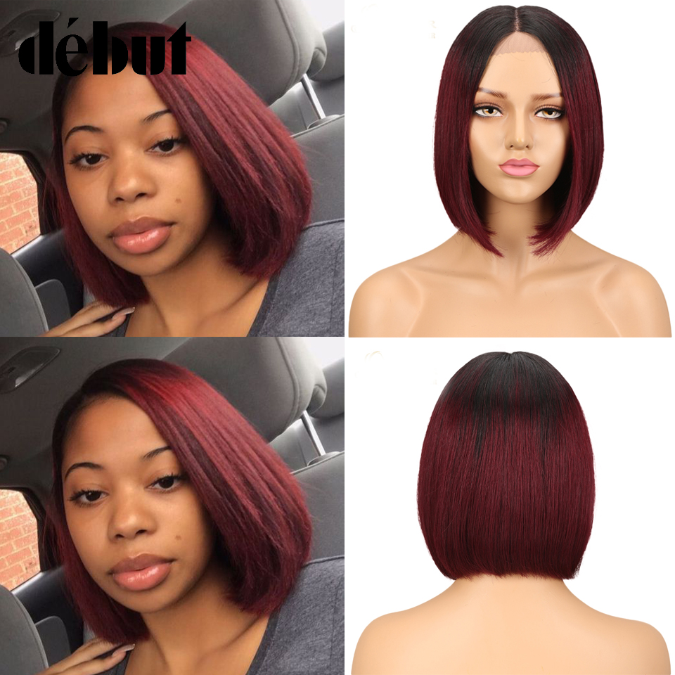 Cheap Human Hair Wig Debut Straight Lace Front Human Hair Wigs Remy Short Bob Wigs For Black Women Cheap Lace Wigs Free Shipping