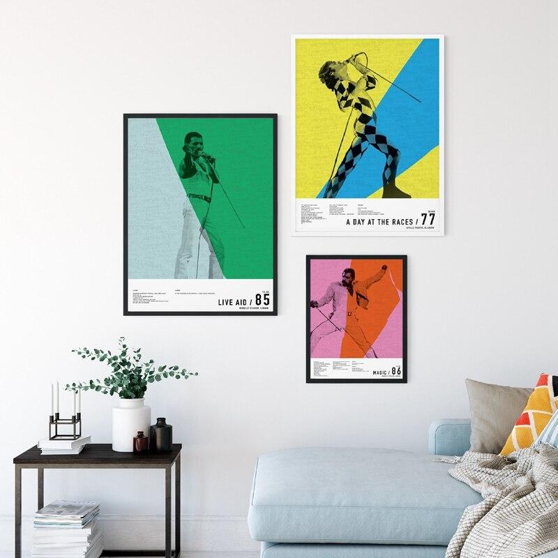 Freddie Mercury 1986 Queen Poster Legendery Singer Art HD Print Wall Decor