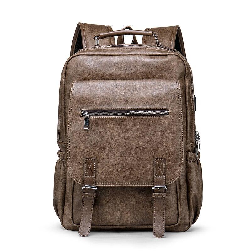 BOPAI, деловой мужской рюкзак, черный, с USB зарядкой, Противоугонный, рюкзак для ноутбука, 15,6 дюймов, мужской, большой емкости, школьные сумки дл... - 3