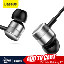 Baseus H04 Bass Sound Earphone In Ear Sport Earphones with mic for xiaomi iPhone Samsung Headset