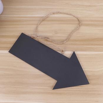 Drewniana tablica ze strzałką z sznurkiem wisząca tablica prezent na parapetówkę (czarny) tanie i dobre opinie CN (pochodzenie)