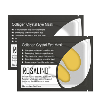 1Pair=2Pcs Gold Collagen Eyes Mask Gel Eye Patches Remove Eye Bags Wrinkle Dark Circles Anti Aging Moisturizing Eye Care TSLM2 1