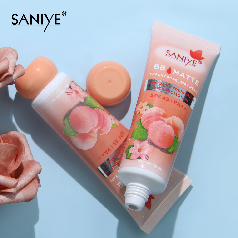 SANIYE  BB Matte Sunscreen Foundation Concealer Primer Makeup Base Primer Cream Peachy Cream R1207