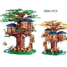 En stock 21318 nuevo árbol casa las Ideas más grandes modelo 3000 + piezas legoinges bloques de construcción ladrillos niños juguetes educativos regalos