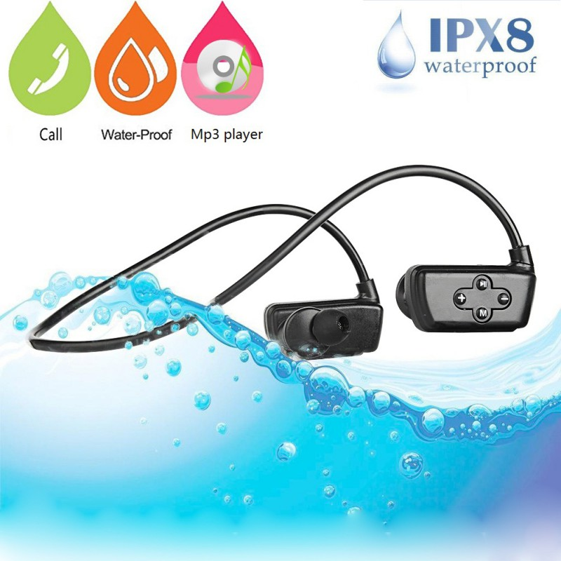 HYC-901 Bluetooth Wireless Earpiece Waterproof Rechargeable Hands-free Swimming Neckband Earphone