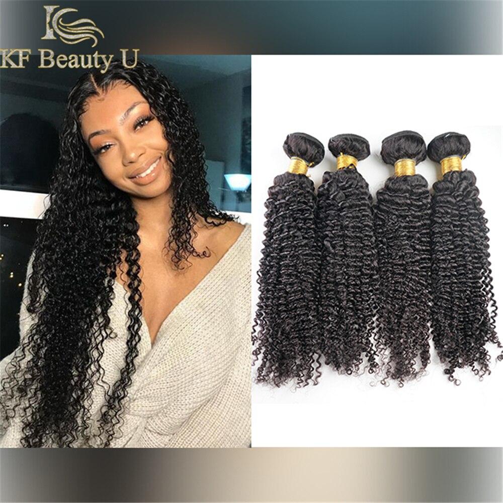 30 polegadas pacotes de cabelo indiano kinky encaracolado tecer cabelo humano 3/4 pçs remy extensões de cabelo para preto