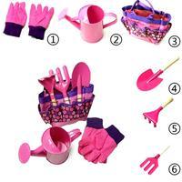 6Pcs Children Kids Garden Tools Watering Can Gardening Shovel Rake Spade Toys Garden Game