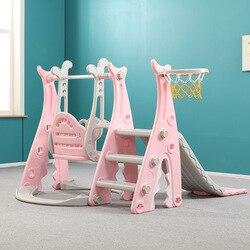 Rutsche Kinder Indoor Hause Baby Rutsche Kleine Schaukel Infant Große Amusement Park Kombination Spielzeug 3in1 Spielen Spielzeug kinder rutsche