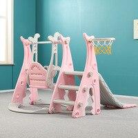 Slide Children Indoor Home Baby Slide Small Swing Infant Large Amusement Park Combination Toy 3in1 Play Toys Children's slide