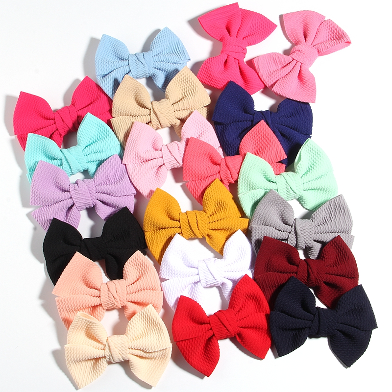 """10PCS 11CM 4.3"""" Big Hot Sell Seersucker Waffle Hair Bows For Hair Accessories Bow Knot Boutique For Kids Girls Head Wear"""