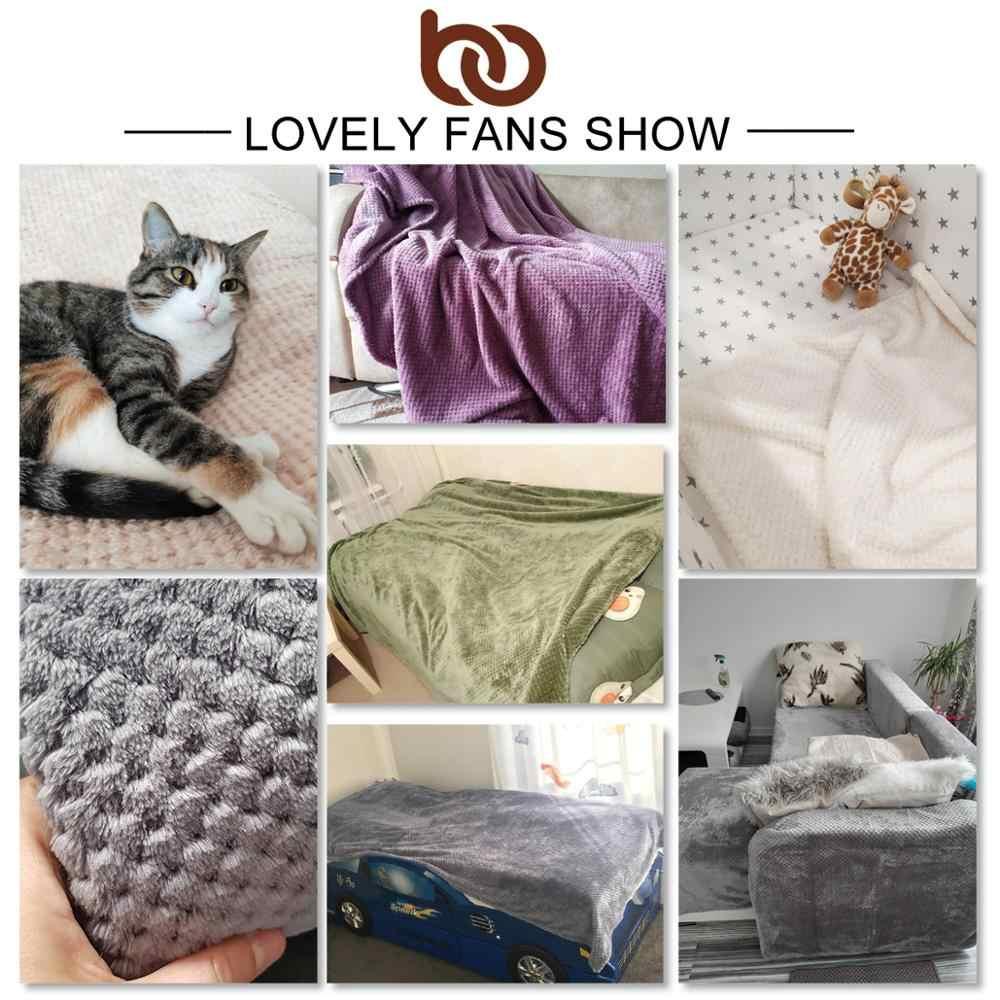 BeddingOutlet Flanell Fleece Decke Soft Reise Decke Einfarbig Bettdecke Plüsch Abdeckung für Bett Sofa Warme Geschenk Dropship