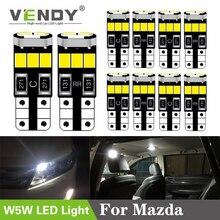 10pcs Car W5W T10 168 LED Light Auto Lamp Interior Bulb 2835 smd For Mazda 3 2 Axela 6 gg gh 8 CX-5 cx5 Atenza 323 MX5 CX3 RX8 guang dian 4x led canbus for ma z da 2 3 6 323 5 626 axela cx 5 mx5 demio cx 7 rx8 t10 w5w 2835 chip clearance lights width lamp