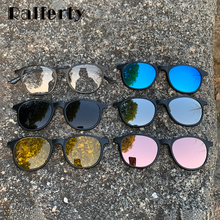 Ralferty Magnet Sunglasses Women Polarized 6 In 1 Eyeglass Frame With Clip On Glasses Men Round UV400 TR90 3D Yellow Oculo A2245