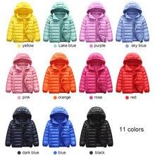 Куртка-пуховик на 90% утином пуху парка для маленьких девочек и мальчиков детская куртка зимняя детская куртка с капюшоном верхняя одежда для малышей на весну и осень От 1 до 12 лет