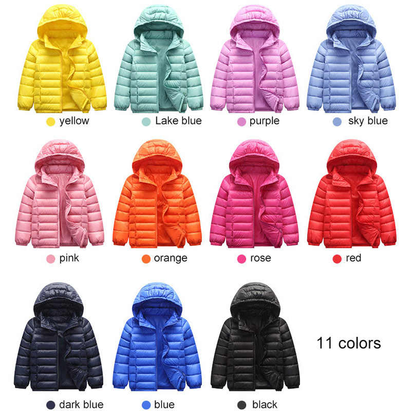90% Duck Down Jacket Coat Baby Girls Boys Parka Kids Jacket Hood Winter Children Jacket Spring Fall Toddler Outerwear 1-12 Year